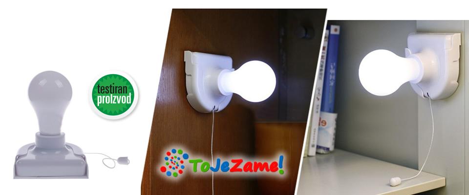 Bežična baterijska svjetiljka s LED svjetlom i uključenom dostavom za cijelu Hrvatsku uz 52% popusta!