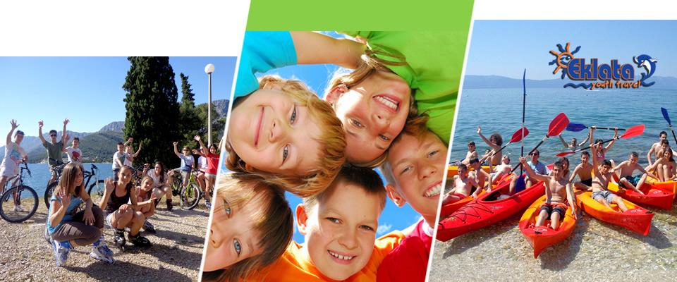 Camp Eklata – ljetni kamp za djecu i mlade od 8 – 16 godina u Zaostrogu na Makarskoj rivijeri 26.07. – 02.08.2014! Paket aranžman u trajanju od 8 dana/7 noćenja!
