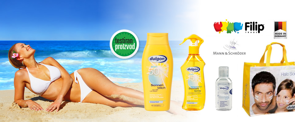 Zaštitite svoju kožu od štetnog utjecaja sunca uz Dulgon Sun paket koji uključuje 2 različite kreme za sunčanje, antibakterijski gel za ruke i vodootpornu torbu za plažu za samo 89 kuna!