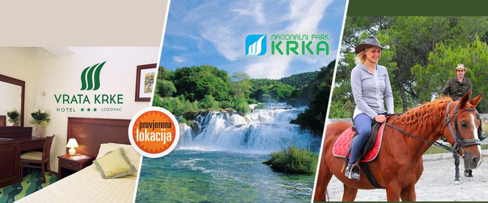 Ljeto u netaknutoj prirodi nacionalnog parka Krka! 3 dana/2 noćenja s doručkom u hotelu Vrata Krke***,piće dobrodošlice + jahanje konja, sve za 2 osobe za 770 kn!