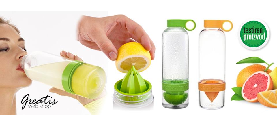 Ukusni i zdravi sokići svaki dan! Iskoristite blagodati posebne CITRUS ZINGER boce i uživajte u prirodnim napitcima uz 56% popusta!