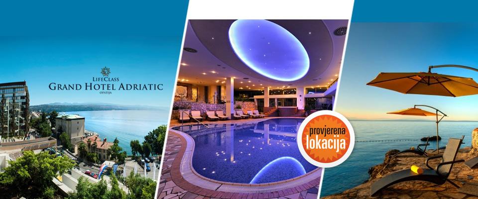 GRAND HOTEL ADRIATIC/OPATIJA - 2 dana/ 1 noćenje s bogatim buffet doručkom i večerom, u standard sobi 3* ili u superior sobi 4*, korištenje bazena, jedan ulaz u SPA, već od 799 kn za 2 osobe!