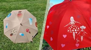 Moderno dizajnirani, kvalitetni i ručno oslikani kišobrani pod dizajnom Divus! Izaberite 1 ili 2 komada u kompletu i prošećite se s unikatnim kišobranom i razveselite i sebe i prolaznike – od 149 kn!