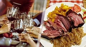 NOVO! MARTINJSKA FEŠTA u Mariji Bistrici u restoranu Dobro nam došel prijatelj uz bogatu VEČERU (juha, bogata plata s prilozima) + 1/2 l vina   MUZIKA sa ili bez prijevoza, od samo 105 kn/ osobi!